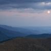 Mesiac nad jesennou Osnicou, 4.10.2009, foto: Jozef Jurík